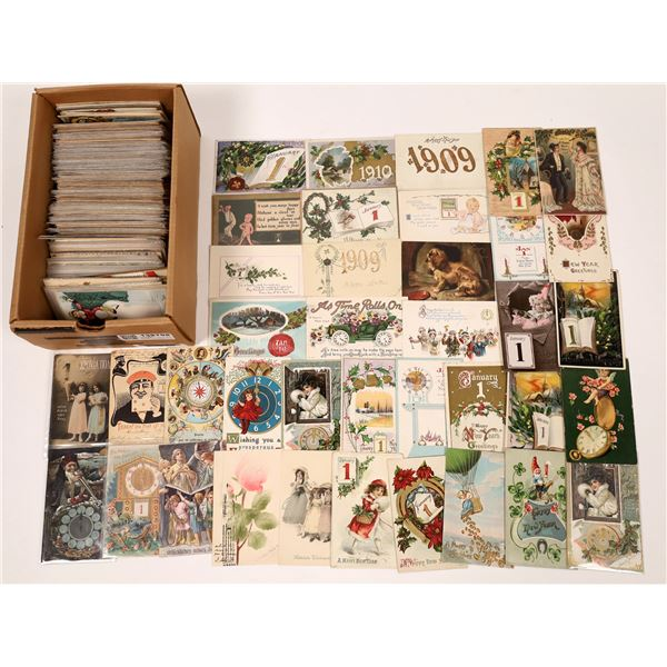 New Year's Celebration Postcards ~ 400  [138798]