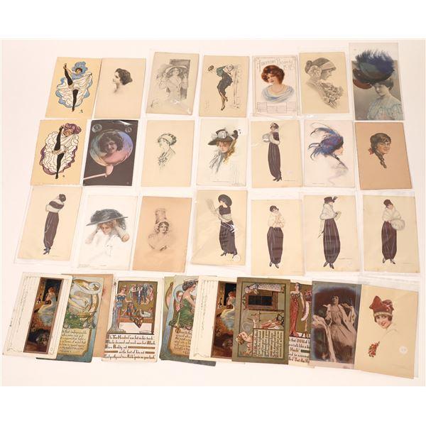 Fine Ladies on Vintage Postcards  [137950]