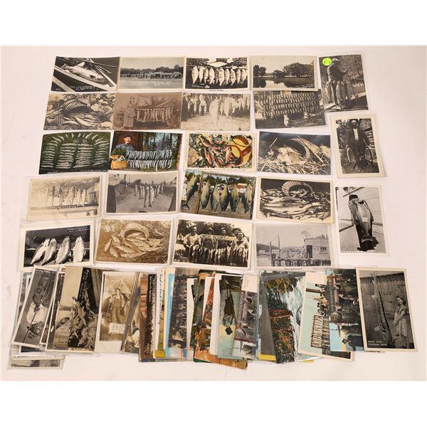 Fishermen Themed Postcards & RPC's (60)  [137063]
