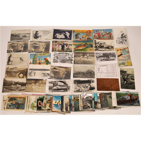 Humorous Fishing Postcards (100)  [137061]