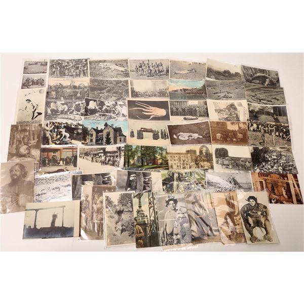 Macabre Postcard Collection: death, disease, hard times  [135213]