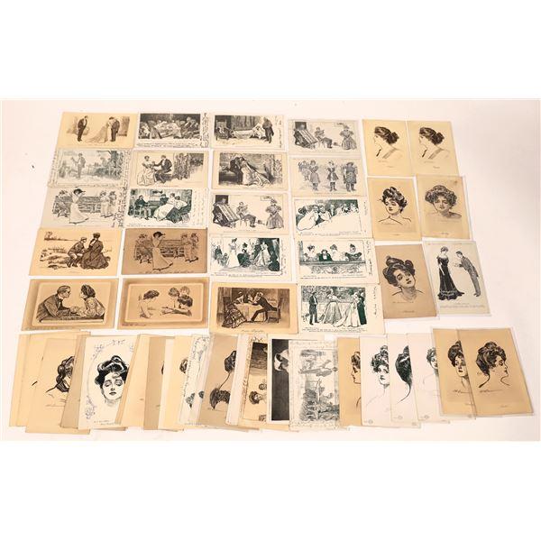 Men & Women Postcard Collection (60)  [136732]
