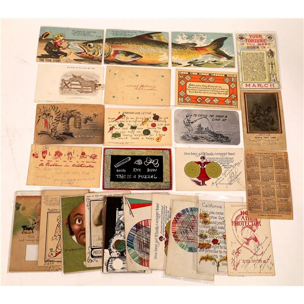 Novelty and Puzzle Postcards ~ 27  [137687]