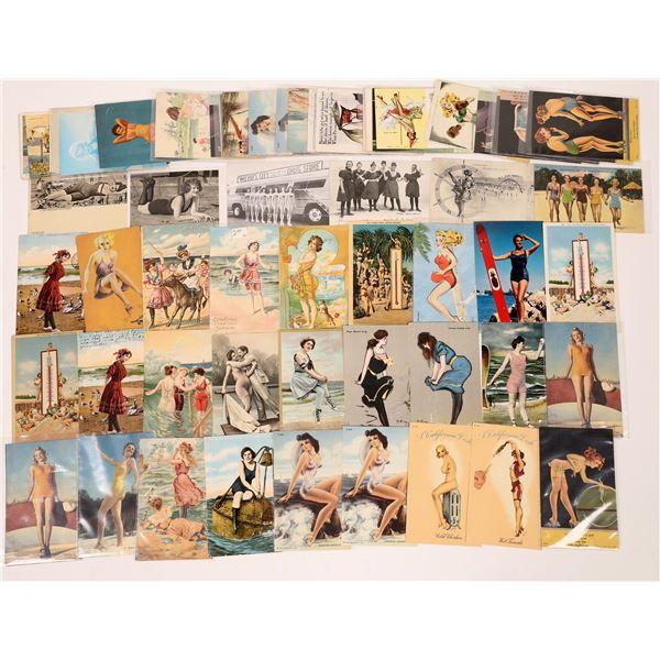 Pinup Postcard Group #4 - Swim Suit Set ~65  [137667]