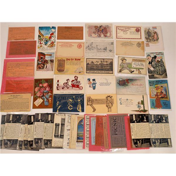 Postal History Postcards & Ephemera ~45 pcs  [137681]