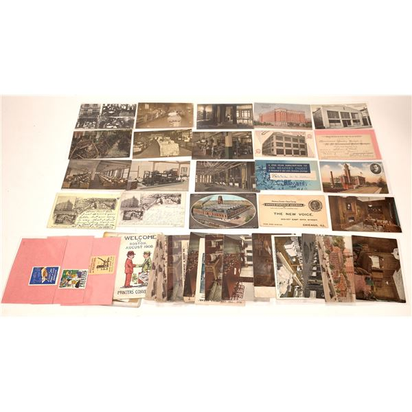 Printing and Publishing Postcard Collection  [137935]