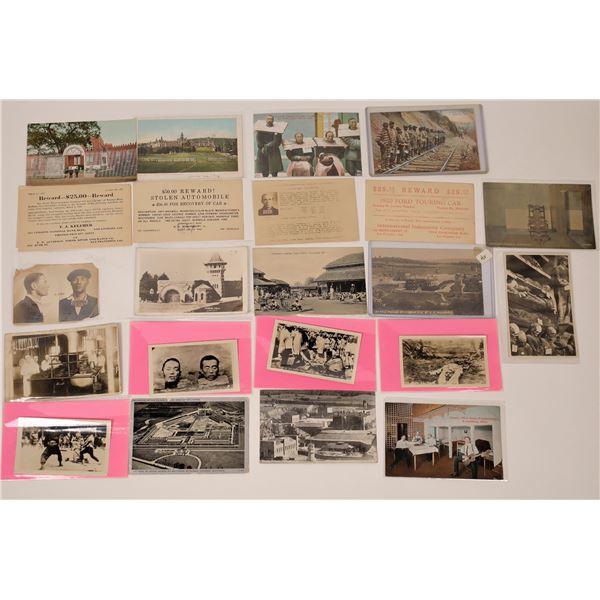 Prisons, Prisoners, and Reward Postcards ~23 pcs  [137679]