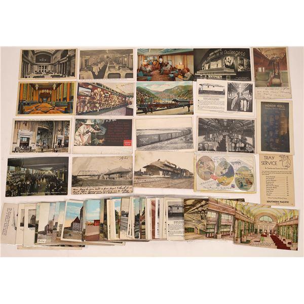 Railroad Depots and Car Interior Postcards  [138944]