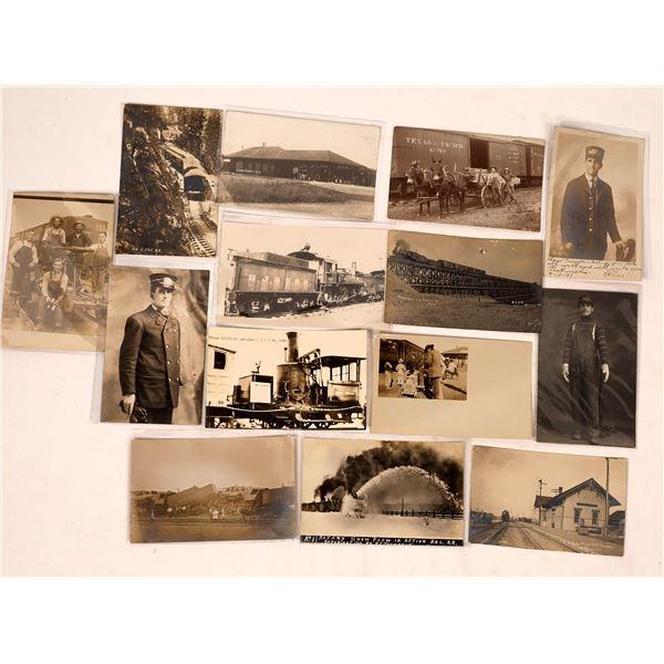Railroad Real Photo Postcards  [138937]
