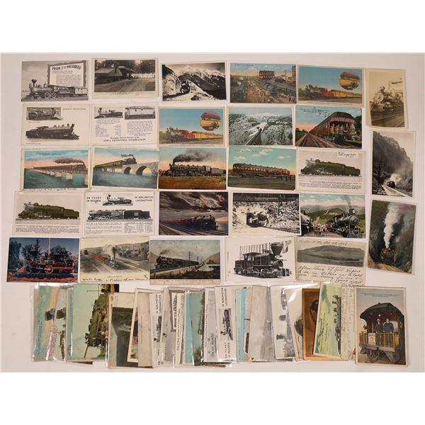 Steam Engine Locomotive Postcard Collection  [138939]