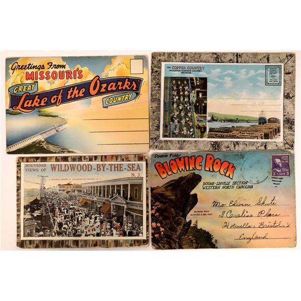 Souvenir Mailing Folders: North Carolina, Missouri, New Jersey, & Michigan  [135771]