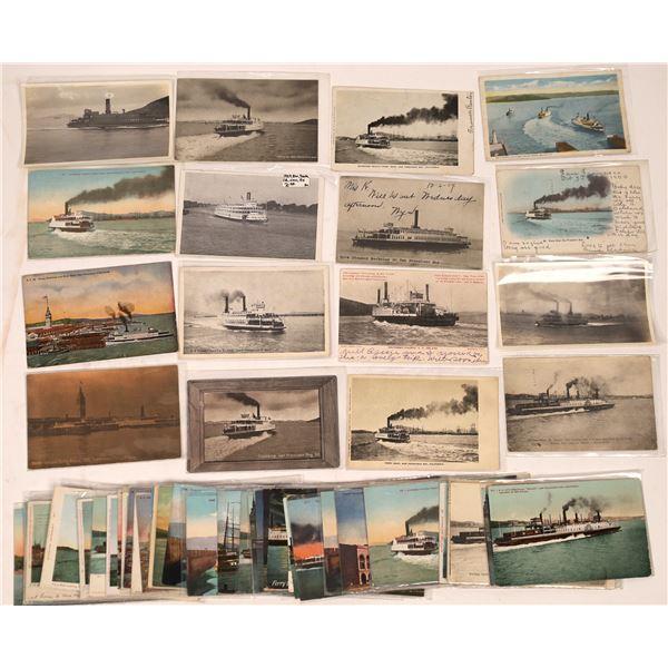 West Coast Ferry & Steamer Postcards, Group 1 (65)  [136063]