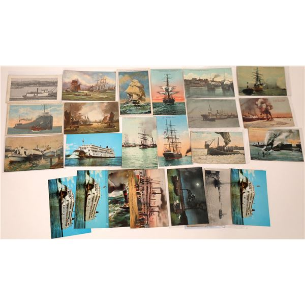 Tugboat, Riverboat and Sailing Ship Postcard Collection  [137599]