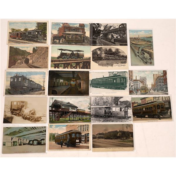 Street Cars, Subway, Elevated Train Postcards  [138938]