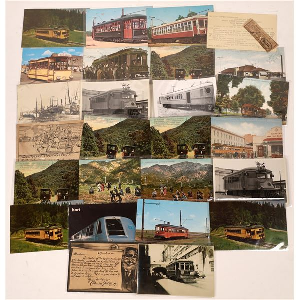 Trolley Car Postcard Collection  [133662]