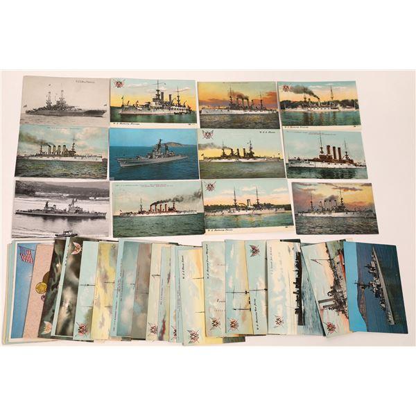 U.S.S. Battleship Postcard Collection  [137598]
