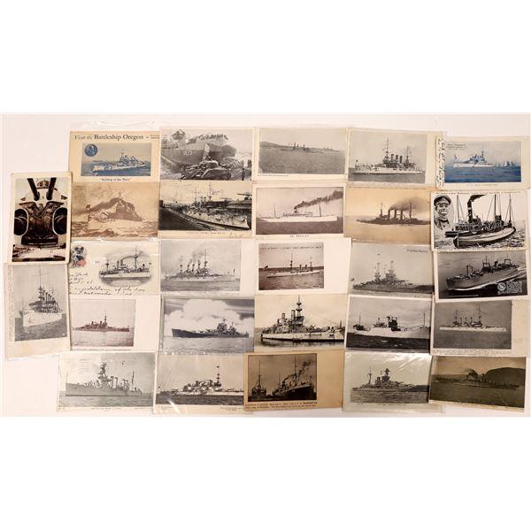 US Navy Postcard Group 8, Battleships & Carriers -(25)  [136076]