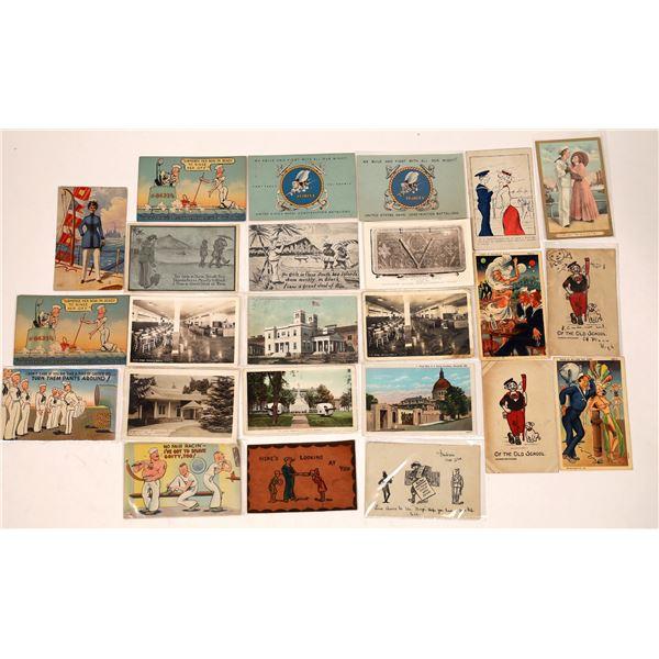 US Navy Postcard Group 16, Comedy, Romance, Buildings (24)  [136085]