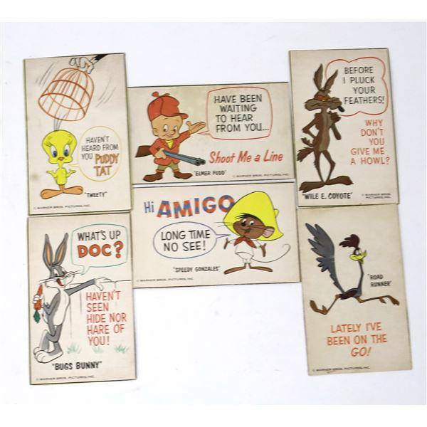 Warner Bros. Vintage Postcard Group  (Lot of 6) - RARE!  [138112]
