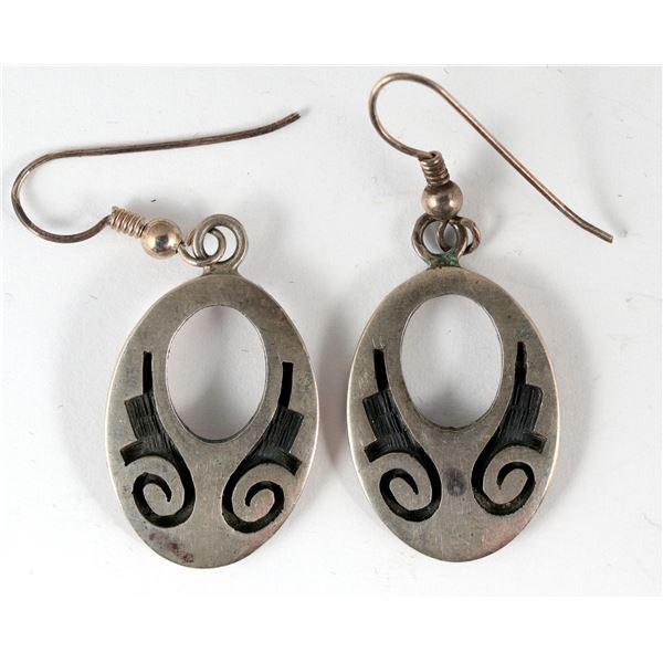 Sterling Overlay Earrings  [136932]