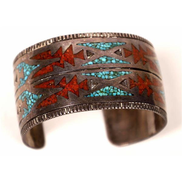 Chip Inlay Design Navajo Cuff  [136977]
