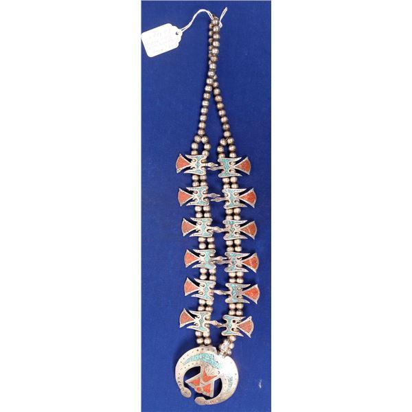 Chip Inlay Peyote Bird Necklace  [136969]