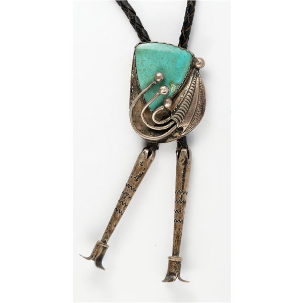 Early Navajo Turquoise Bolo  [137160]
