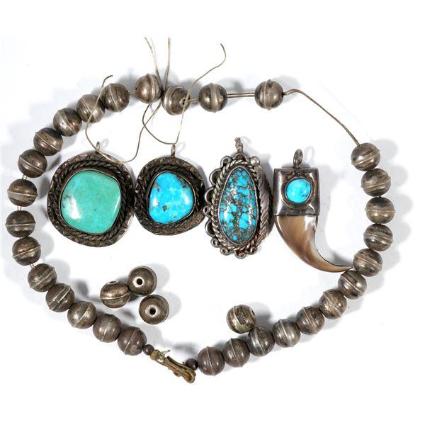 Four Silver/Turquoise Pendants  [137276]