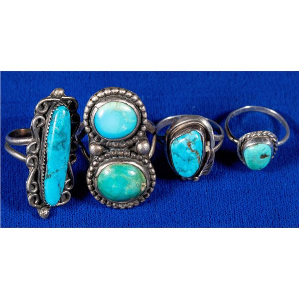 Four Women's Turquoise Rings  [137212]