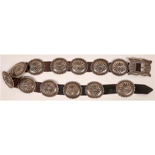 Navajo Silver Concho Belt  [136904]