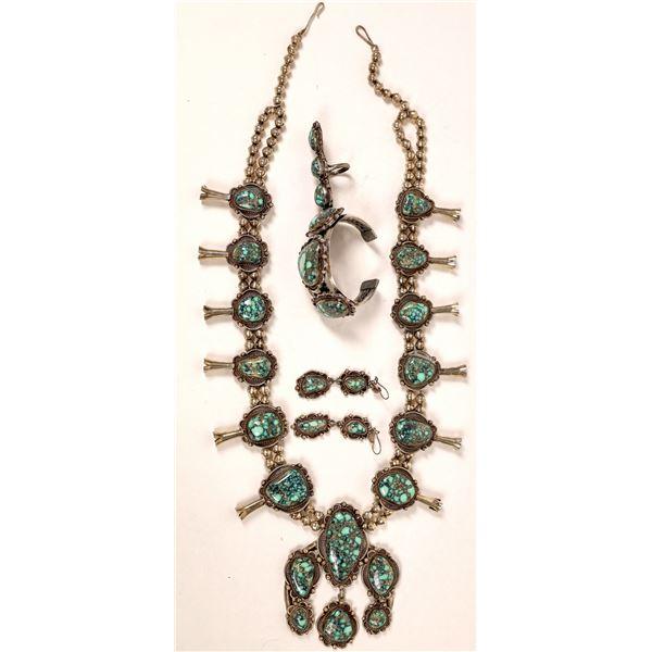 No. 8 Mine Turquoise Jewelry Set  [136900]