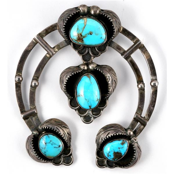 Silver and Turquoise Naja  [137275]