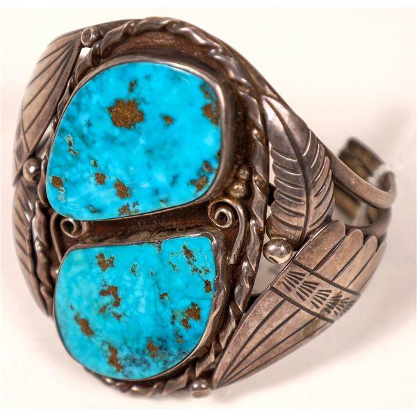 Thompson Platero Silver Turquoise Cuff   [136935]