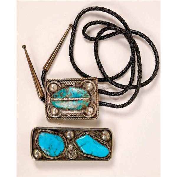 Turquoise Bolo and Belt Buckle  [136944]