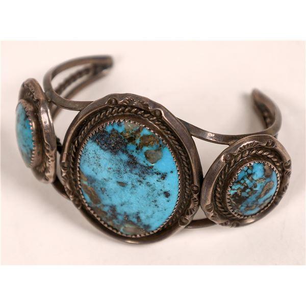 Turquoise Navajo Cuff--Vintage  [136975]