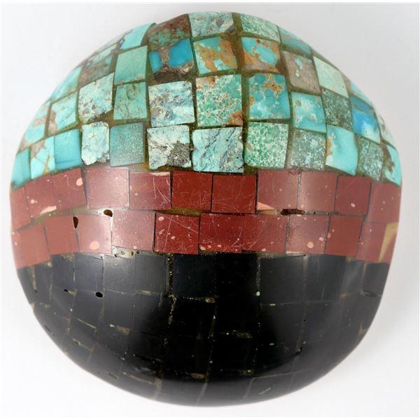 Mosaic overlay on Shell Pendant  [137271]