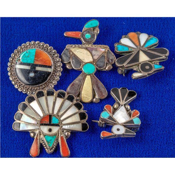 5 Zuni Pins  [137214]