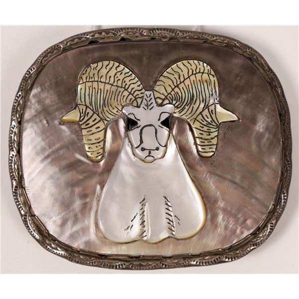Big Horn Ram Belt Buckle by Effie Quam  [136962]