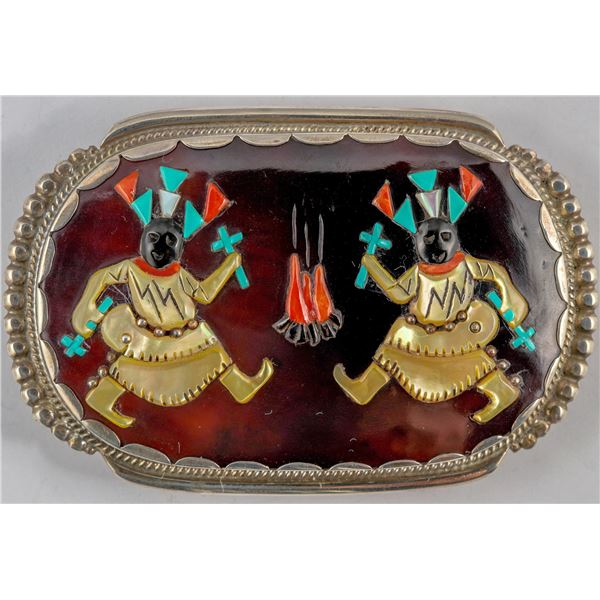 Calabaza Ghan Dancers Belt  Buckle  [137233]