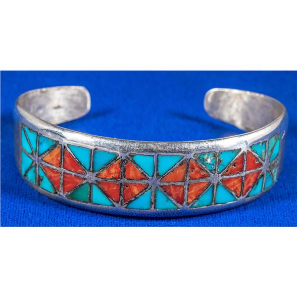 Coral & Turquoise Cuff  [137236]