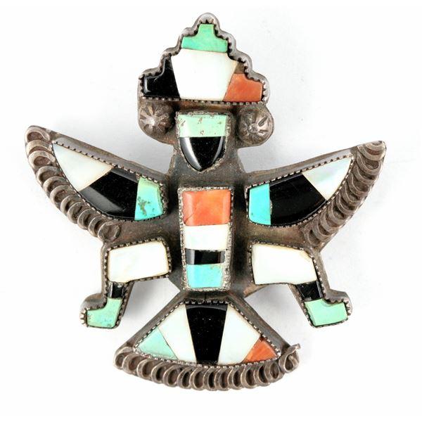 Inlay and Silver Knifewing Pin  [137268]