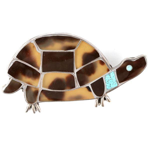 Inlay Turtle Pin  [137249]