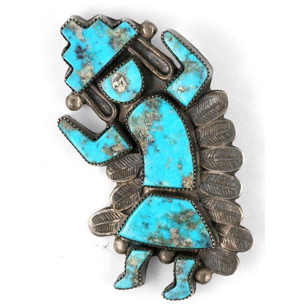 Morenci Turquoise Rainbow Man Pin  [137263]