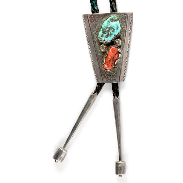 Turquoise & Coral Bolo  [137172]