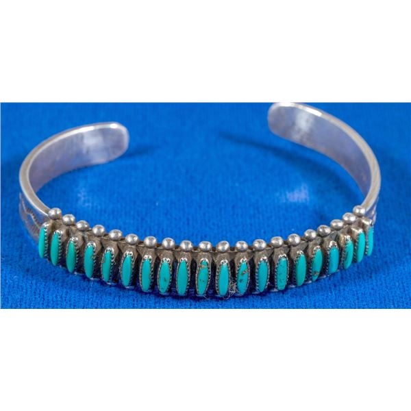 Turquoise Needlepoint Cuff  [137237]