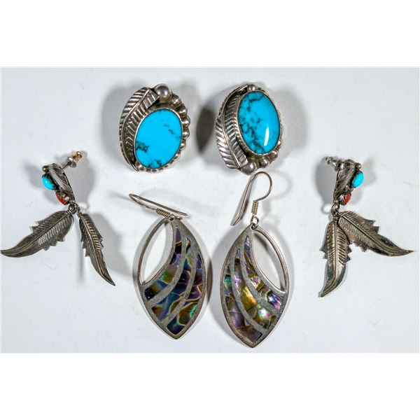 Sterling Silver Earing Trio  [137694]