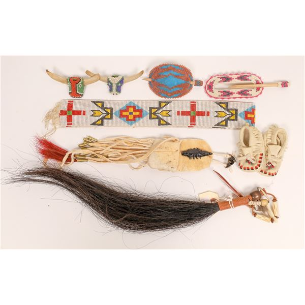 Native American Beaded and Other Art Pieces (6)  [136627]