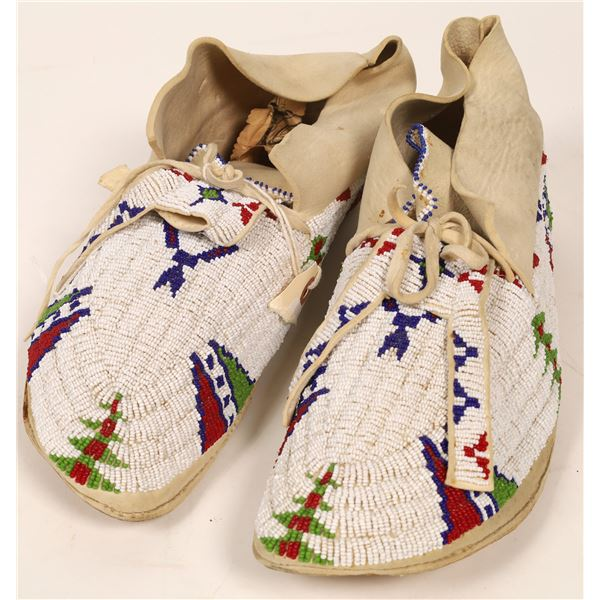 Beaded Moccasins Pair  [136626]