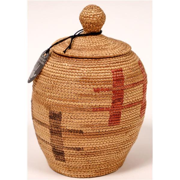 Inuit Eskimo Native American Indian Alaskan Basket from Hooper Bay  [137545]