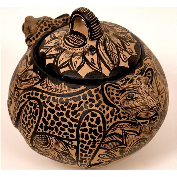 Chiapas Handmade Jaguar Pottery   [136923]